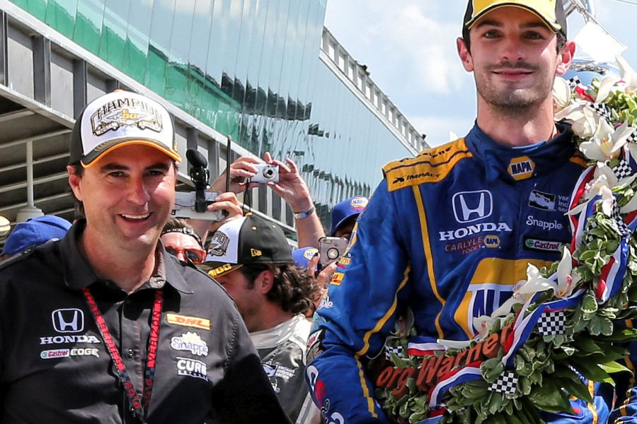Bryan Herta and Alexander Rossi in 2016