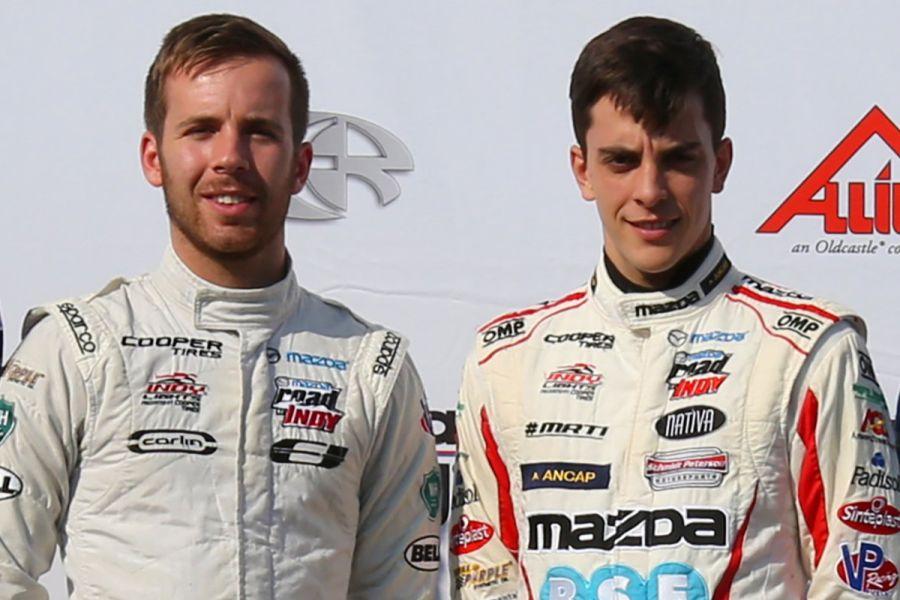 Ed Jones and Santiago Urrutia, Indy Lights 2016