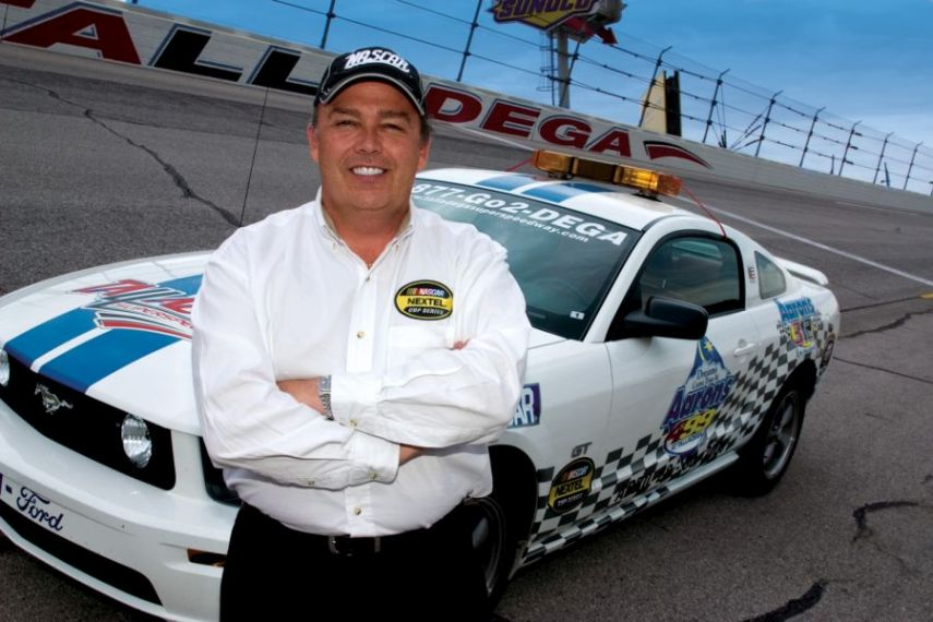 Brett Bodine works as NASCAR pace car driver