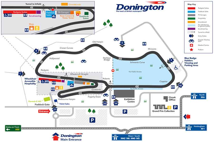 Donington Park map/circuit layout