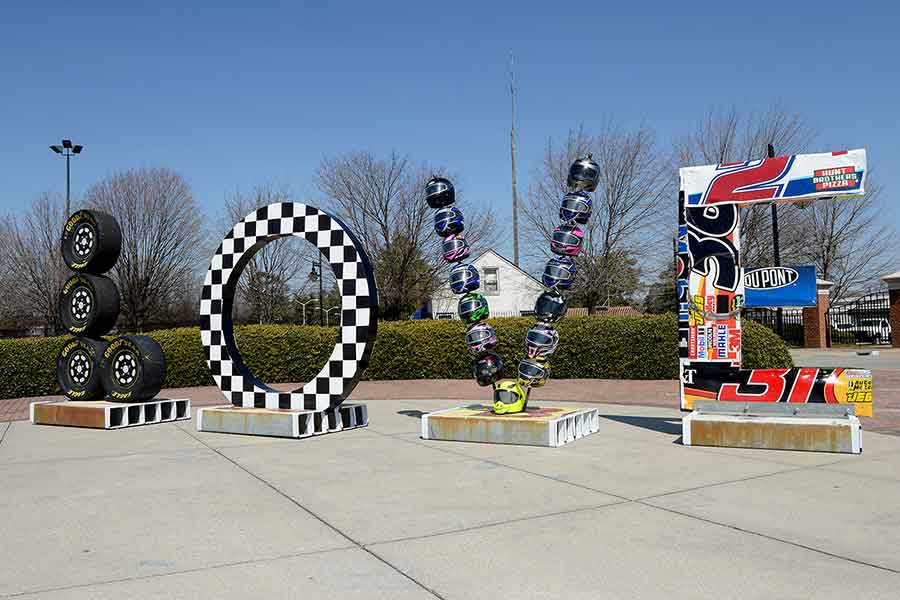 Richmond International Raceway Love sculpture