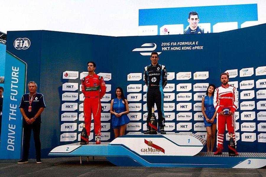 Hong Kong ePrix podium