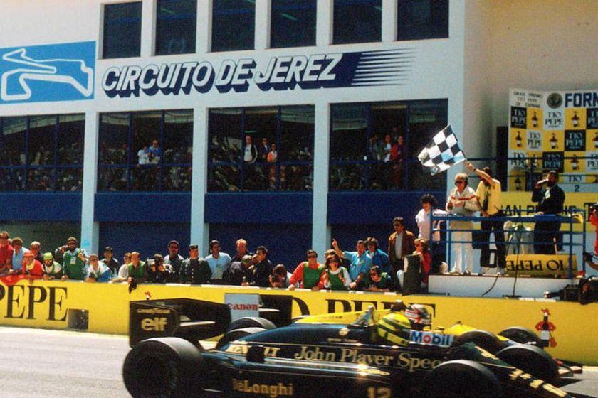 Senna vs Mansell historic finish