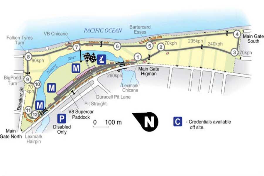 Surfers Paradise street circuit, original layout