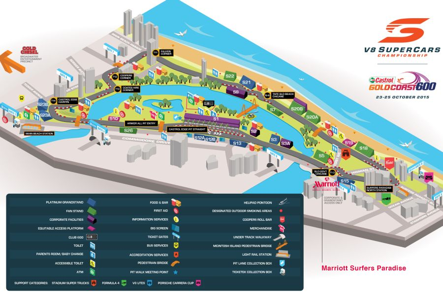 Surfers Paradise Street Circuit map/track layout