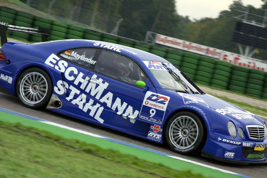 Bernd Mayländer scored his only DTM victory in 2001 in the #9 Mercedes