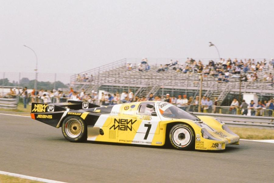 The legendary #7 New Man Joest Racing Porsche 956 that won Le Mans in 1985