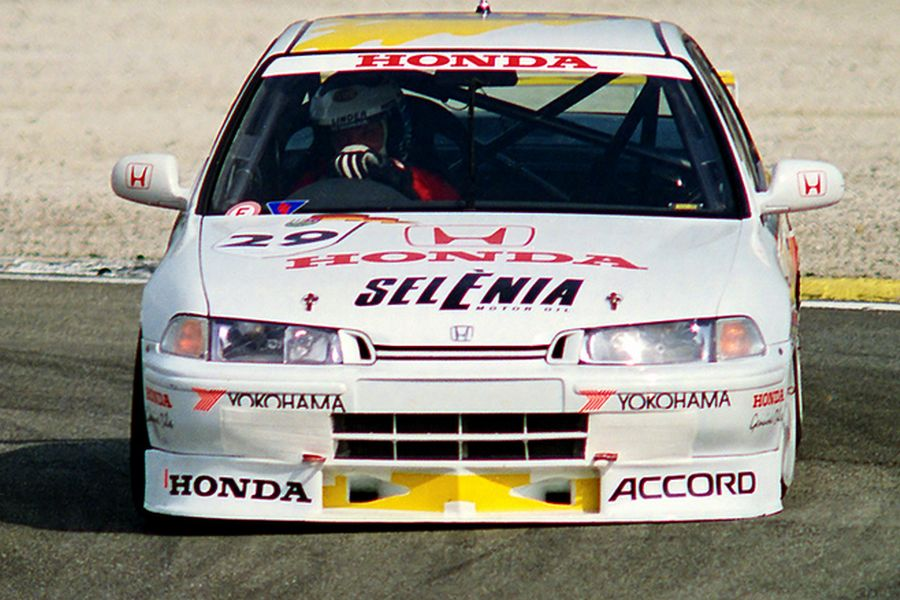 Klaus Niedzwiedz raced with Honda Accord in 1995 and 1996