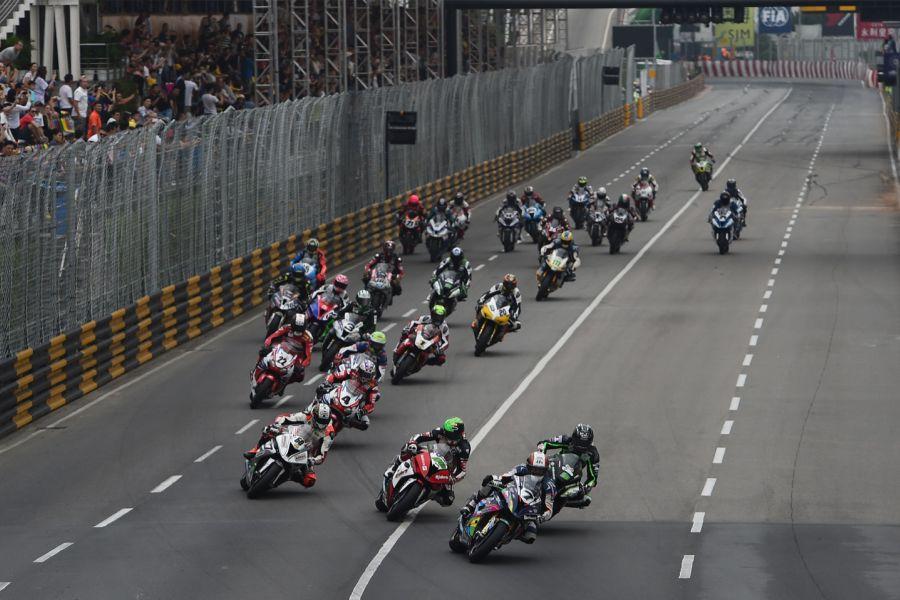 Motorcycle race at Macau Grand Prix