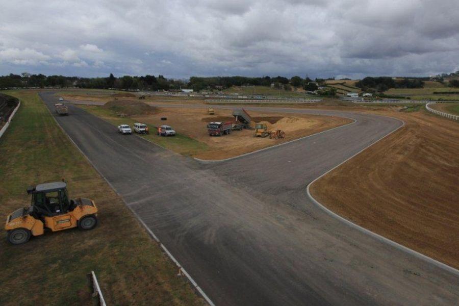 Pukekohe Park Raceway 2012 reconstruction, aerial view