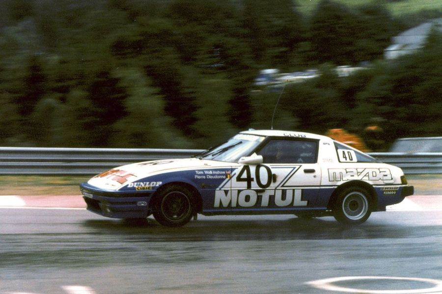 Tom Walkinshaw's Mazda RX-7 at 1981 Spa 24 Hours