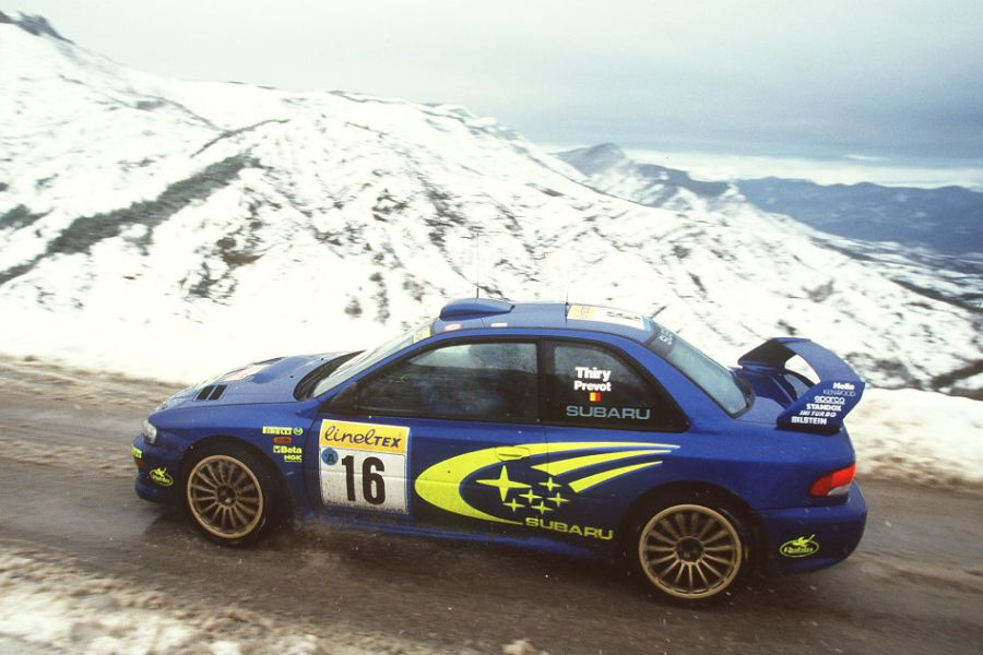 Bruno Thiry and Stephane Prevot at 1999 Rallye Monte-Carlo