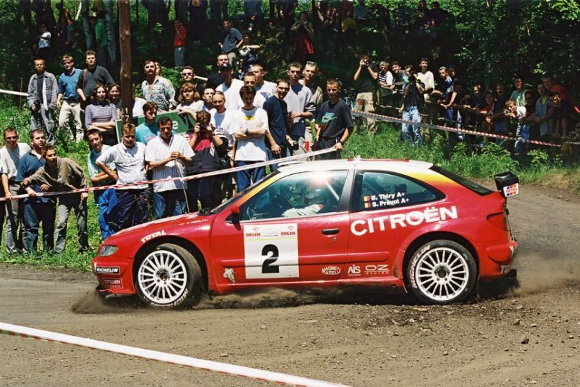 Bruno Thiry and Stephane Prevot at 2000 Rajd Polski