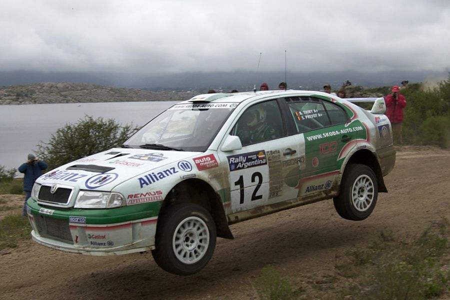 Bruno Thiry and Stephane Prevot at 2001 Rally Argentina