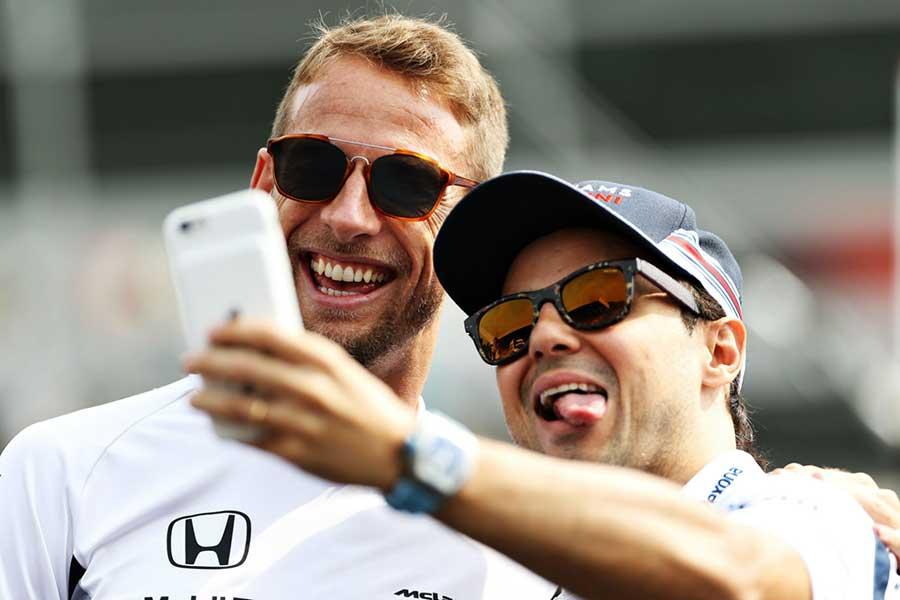 Jenson Button Felipe Massa