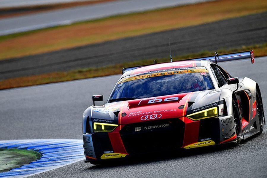 Audi Team Hitotsuyama, Richard Lyons, Tomonobu Fujii, GT300 winners Motegi