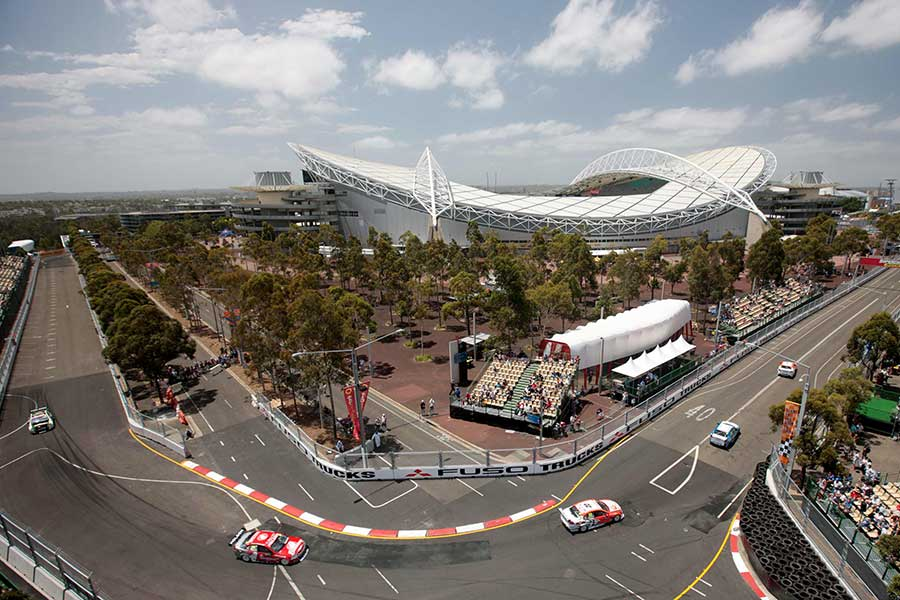 Part of the Homebush Street Circuit