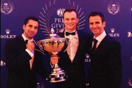 Neel Jani, Marc Lieb and Romain Dumas, 2016 FIA WEC champions