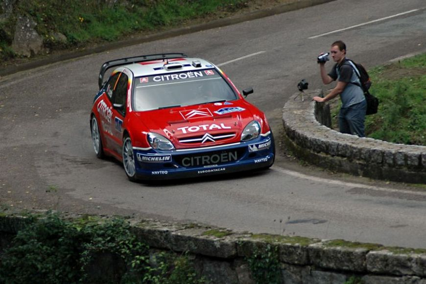 Sebastien Loeb at 2005 Tour de Corse