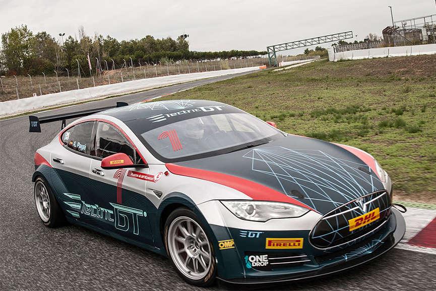 EGT Championship Tesla Model S P85+ in motion