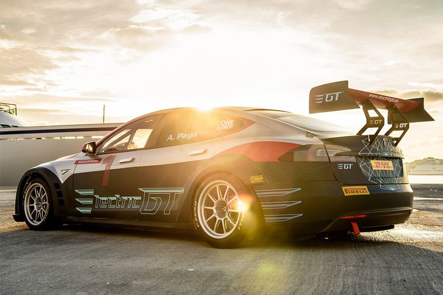 EGT Championship Tesla Model S P85+ replaced
