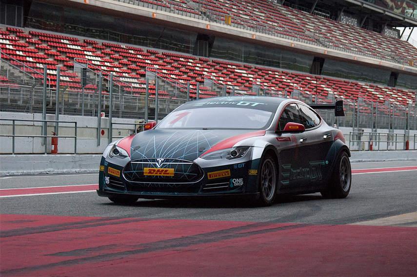EGT Championship Tesla Model S P85+ on track