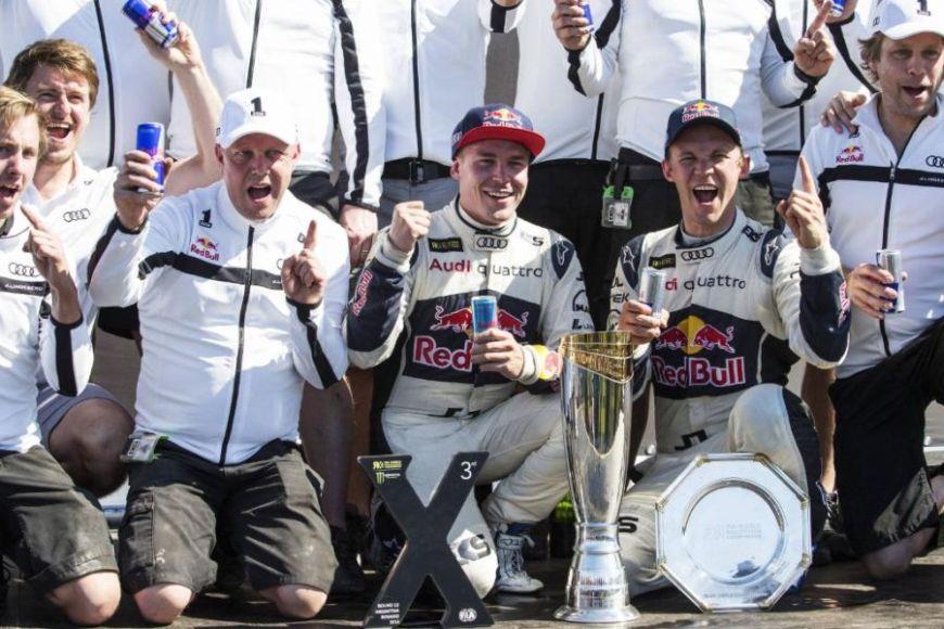 Mattias Ekstrom, Toomas Heikkinen, EKS RX, 2016 World RX champions