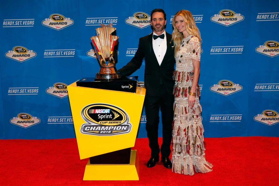 Jimmie Johnson and his wife Chandra