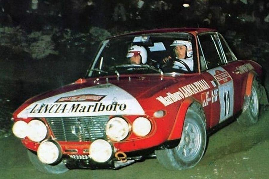 Simo Lampinen in a Lancia Fulvia