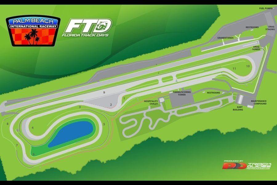 Palm Beach International Raceway map