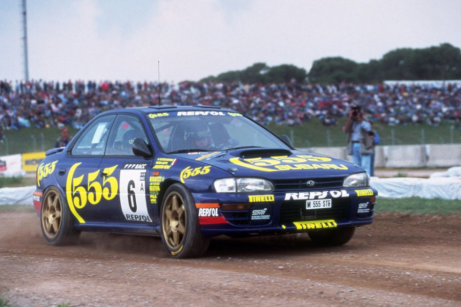 Piero Liatti at 1995 Rallye Catalunya