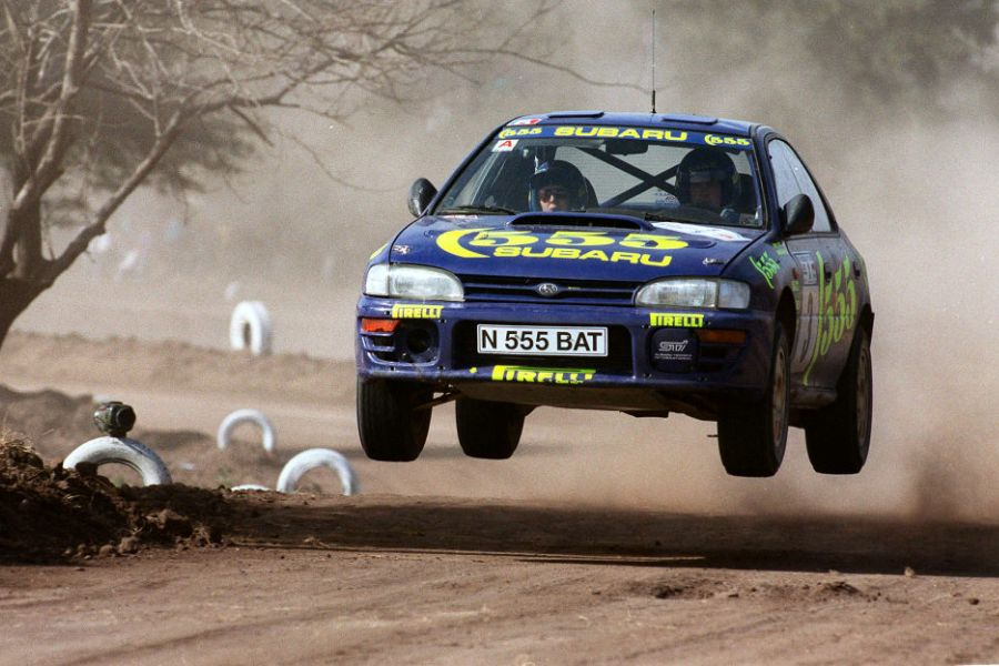Piero Liatti in the #3 Subaru Impreza 555 in 1996