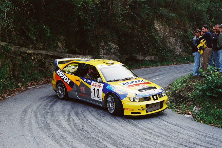 Piero Liatti was driving a Seat Cordoba WRC in 1999