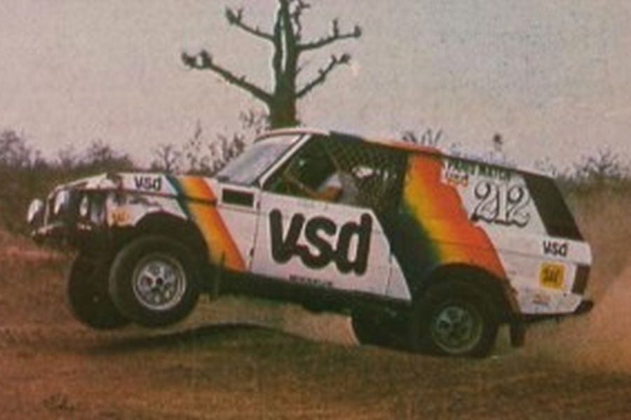 In 1981, Metge triumphed at Paris - Dakar Rally with Range Rover