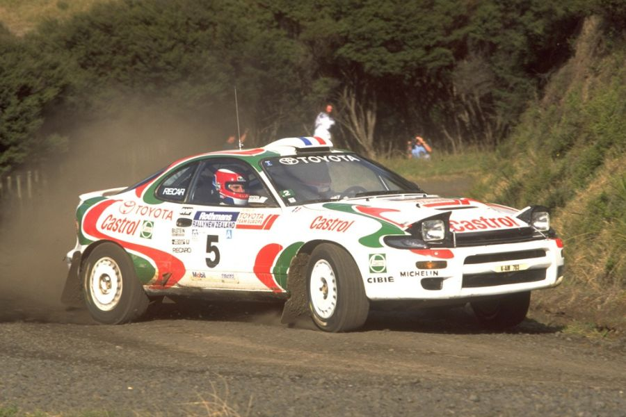 Didier Auriol driving the Toyota Celica in 1994