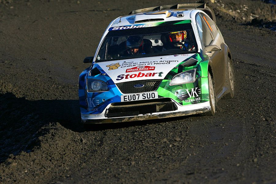 Valentino Rossi at 2008 Wales Rally GB