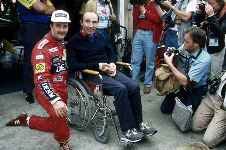 Frank Williams Nigel Mansell 1986