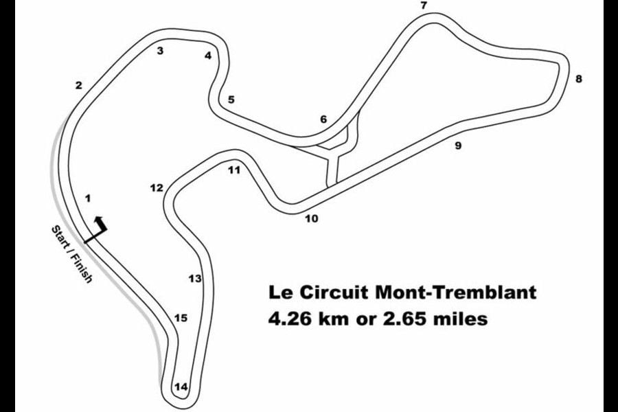 Circuit Mont-Tremblant map