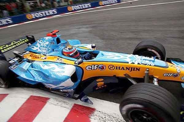 Renault R25, BGP,Alonso