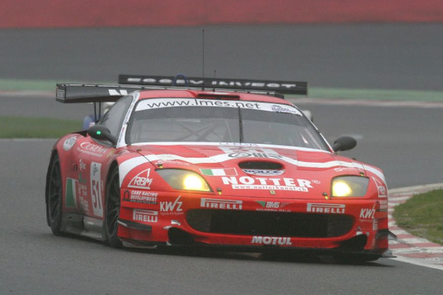 In 2005, Pescatori was driving the #51 Ferrari 550 Maranello