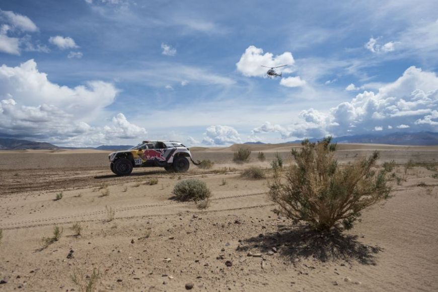 Cyril Despres (FRA) of Team Peugeot Total races during stage 04 of Rally Dakar 2017 from Jujuy, Argentina to Tupiza, Bolivia on January 05, 2017