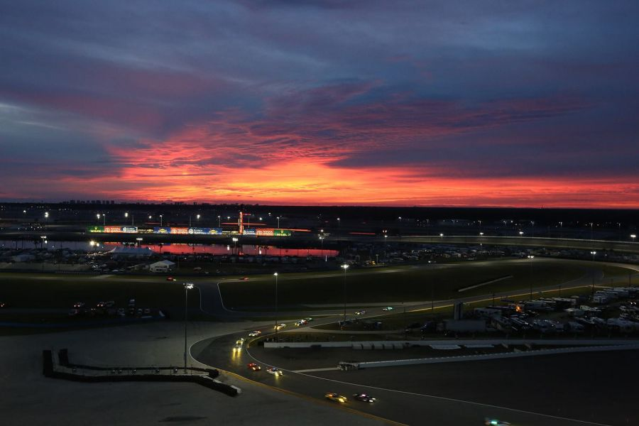 A sunrise at Daytona International Speedway