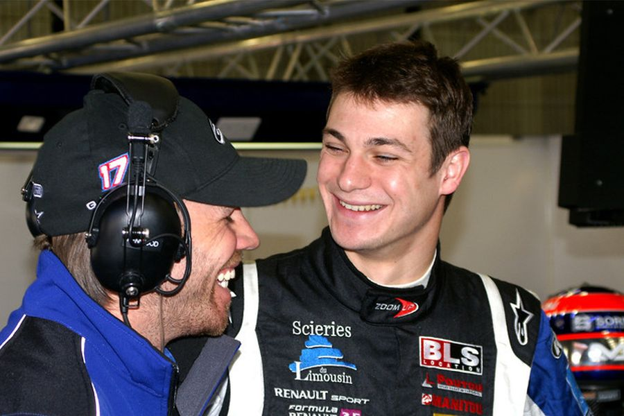 Guillaume Moreau with KTR team owner Kurt Mollekens