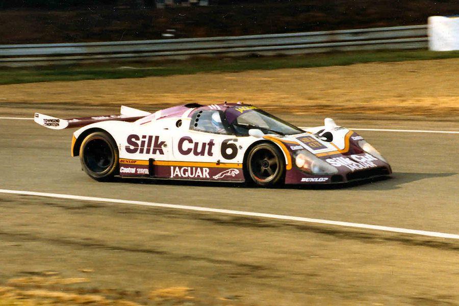 The #6 Jaguar XJR-8 at 1987 Le Mans 24h