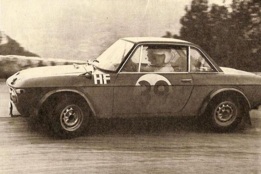 Ove Andersson at 1967 Rallye Monte-Carlo in a Lancia Fulvia HF