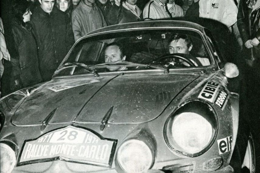 Ove Andersson and David Stone at 1971 Rallye Monte-Carlo