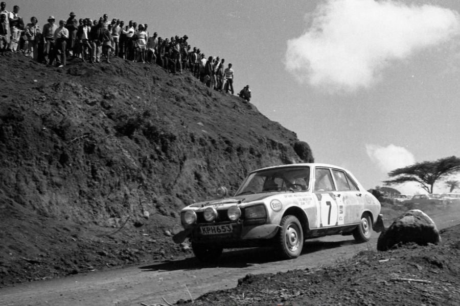 Ove Andersson scored his only WRC victory in a Peugeot 504