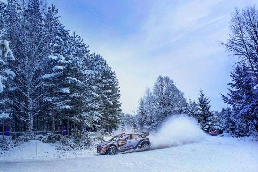 Rally Sweden is the only snow event in the World Rally Championship