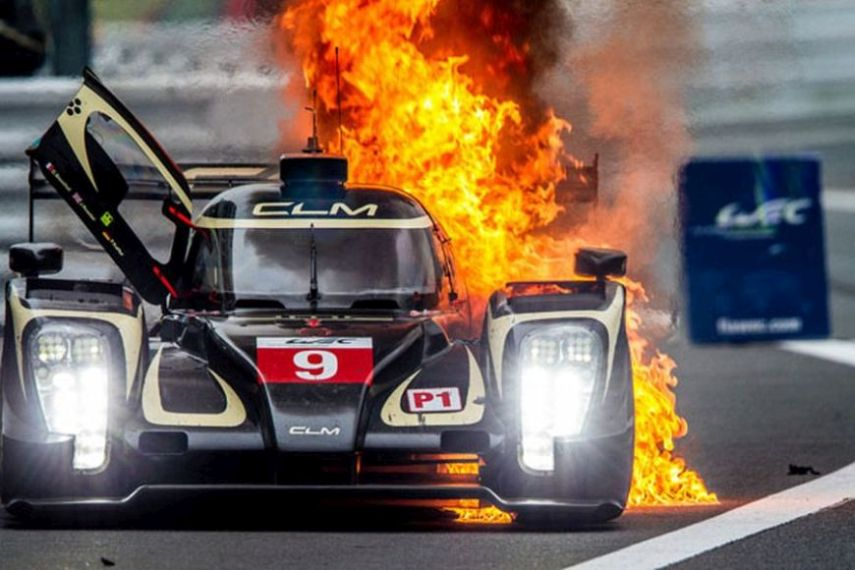 CLM P1/01, Fire at Fuji Speedway