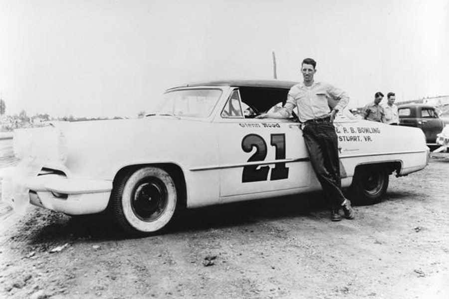 Glen Wood with #21 car early in a career